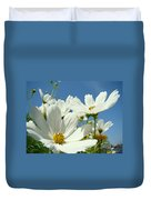 White Daisy Flowers Fine Art Photography Daisies Baslee Troutman Duvet Cover