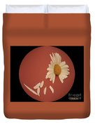 Encapsulated Daisy With Dropping Petals Duvet Cover