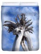 White Desert Tree Duvet Cover