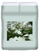 White Dogwood Flowers 6 Dogwood Tree Flowers Art Prints Baslee Troutman Duvet Cover