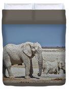 White Elephants Duvet Cover