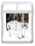 White Ermine Duvet Cover