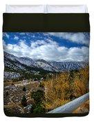 White Fence Duvet Cover