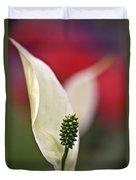 White Flamingo Flower Duvet Cover