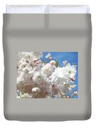White Floral Tree Flower Blossoms Art Baslee Troutman Duvet Cover
