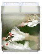 White Bottlebrush Buckeye Duvet Cover