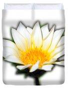 White Flower T-shirt Duvet Cover