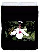 White Flower Work Number 4 Duvet Cover