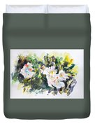 White Flowers Duvet Cover