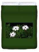 White Flowers In The Garden Duvet Cover