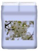 White Flowers On A Tree Duvet Cover