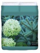 White Flowers W14 Duvet Cover