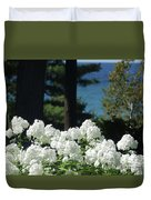 White Flowers W16 Duvet Cover