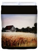 White For Harvest Duvet Cover