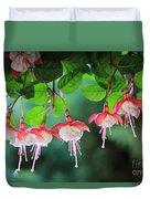 White Fuchsia Duvet Cover