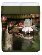 White Giant Water Lily Duvet Cover