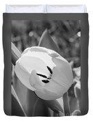 White Goddess Tulip Photography  Duvet Cover
