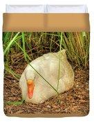 White Goose By Pond Duvet Cover