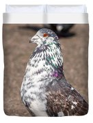 White-gray Pigeon Profile Duvet Cover