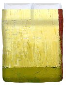 White Green And Red Duvet Cover by Michelle Calkins