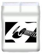 White Guitar 4 Duvet Cover