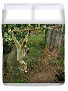 White Handed Gibbon 3 Duvet Cover