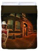 White Hat Street Duvet Cover