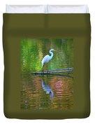 White Heron Duvet Cover