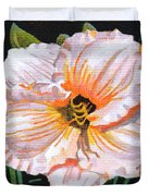 White Hibiscus Duvet Cover