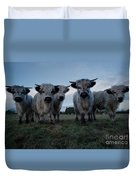 White High Park Cow Herd Duvet Cover
