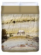 White Horse On A Mound Duvet Cover