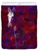 White Horse White Horse  Duvet Cover