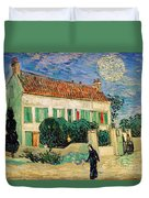 White House At Night Duvet Cover by Vincent Van Gogh