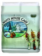 White House Cafe Duvet Cover
