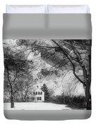 White House In Winter Duvet Cover