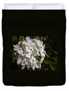 White Hydrangea Bloom Duvet Cover