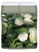 White Hydrangea Bush Duvet Cover