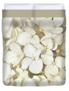 White Hydrangea Duvet Cover