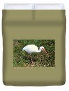 American White Ibis Bird Duvet Cover