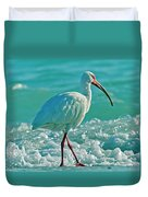 White Ibis Paradise Duvet Cover
