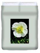 White Iceland Poppy Duvet Cover
