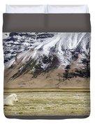 White Icelandic Horse Duvet Cover