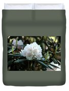 White Inflorence Of  Rhododendron Plant Duvet Cover
