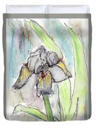 White Iris Duvet Cover