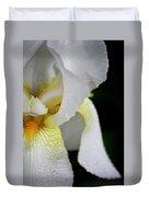 White Iris Study No 3 Duvet Cover
