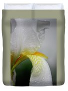 White Iris Study No 6 Duvet Cover