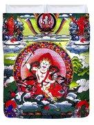 White Jambhala 3 Duvet Cover