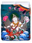 White Jambhala 4 Duvet Cover
