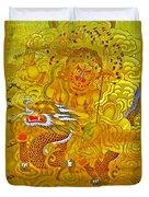 White Jambhala 5 Duvet Cover