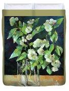 White Jasmine In A Ikea Bowl Duvet Cover